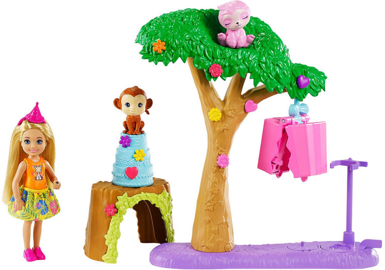 Barbie and Chelsea The Lost Birthday Party Fun Playset with Doll & 2 Animals