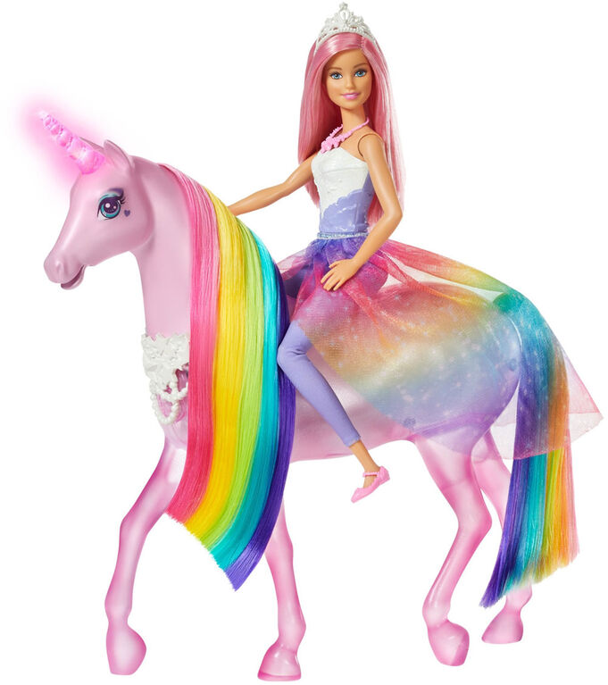 Barbie Dreamtopia Magical Lights Unicorn and Doll