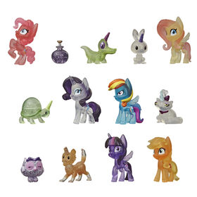 My Little Pony Collection Pony Pet Friends - 12 Pony and Animal 1.5-Inch Figures, Including 1 Mystery Toy - R Exclusive