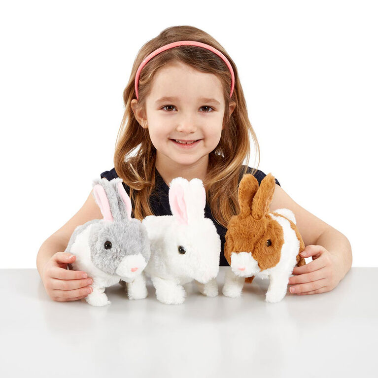 Pitter Patter Pets - Teeny Weeny Bunny Brown and White - R Exclusive