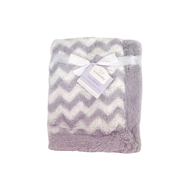 Koala Baby Grey Chevron Blanket
