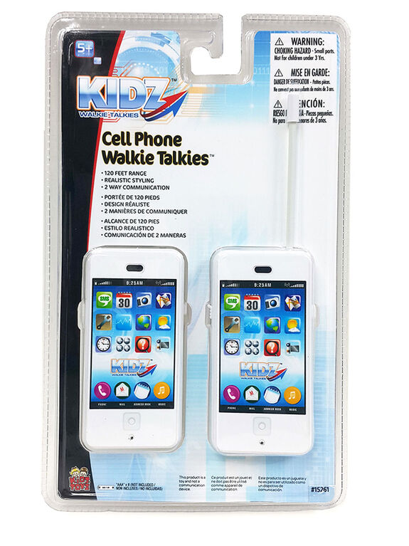 Kidz White Cell Phone/Walkie Talkie