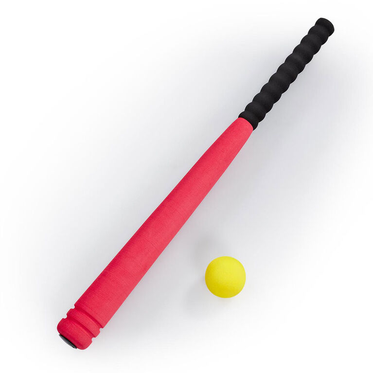 Ens batte et balle de baseball rouge Out and About de 61 cm