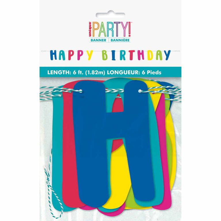 Llama Birthday Letter Banner, 6 ft - English Edition