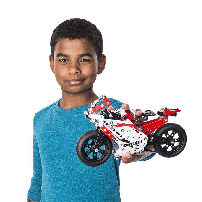 Meccano – Coffret de construction Ducati Desmosedici GP de la gamme STEAM avec suspension à ressort