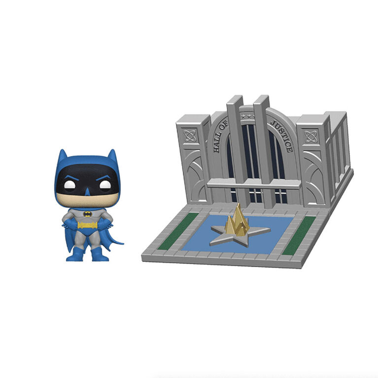 Figurine en Vinyle Hall of Justice with Batman Par Funko POP! Batman 80th - Édition anglaise