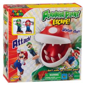 Epoch Games Super Mario Piranha Plant Escape! with Collectible Super Mario Action Figures - English Edition