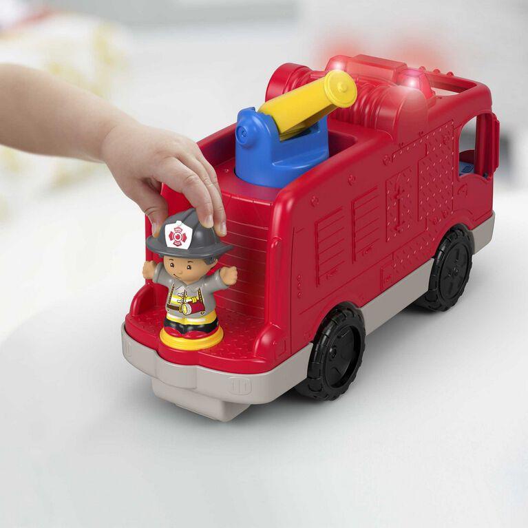 Fisher-Price - Little People - Camion des pompiers serviables - Édition bilingue