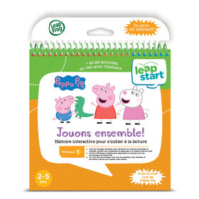 LeapFrog LeapStart Peppa Pig Playing Together - Storybook - French Edition