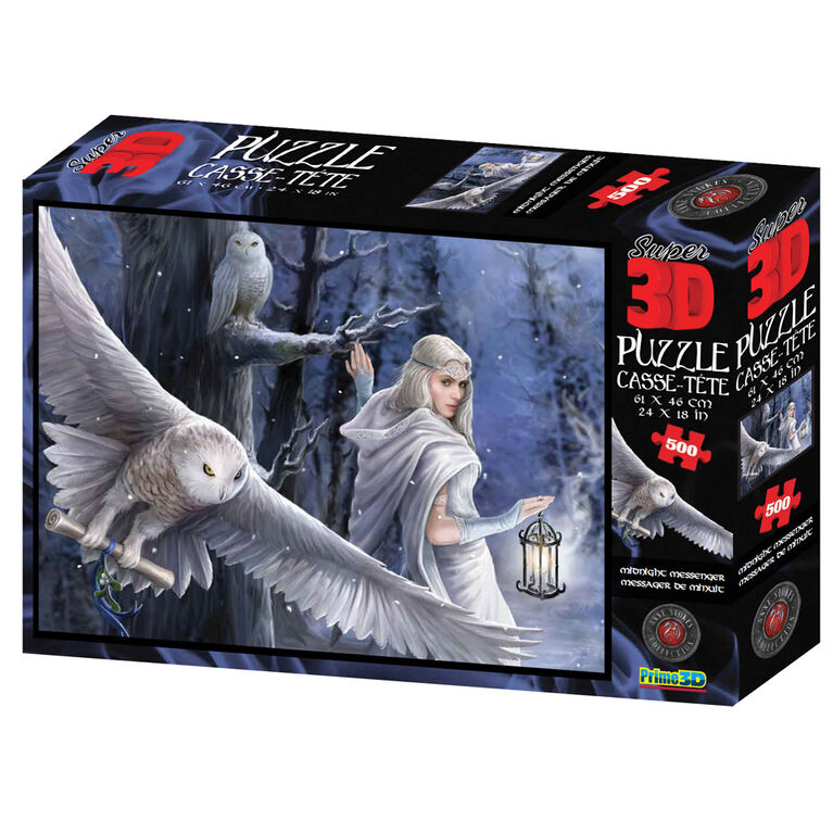 Anne Stokes - Midnight Messenger - 500 Piece - 3D Puzzles