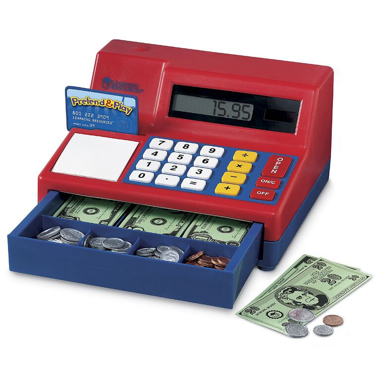 Learning Resources - Pretend & Play Calculator Cash Register - English Edition