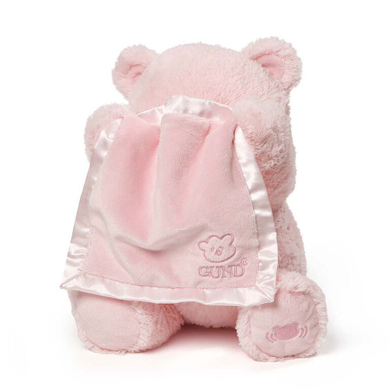 Baby GUND, Ours en peluche animé cache-cache, My 1st Teddy, rose, 29,2cm