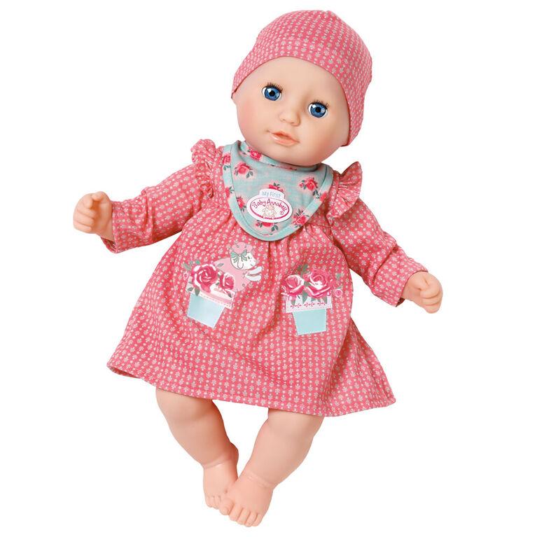 Petite tenue douillette aux motifs de Baby Annabell de 36 cm : Rouge - Notre exclusivité