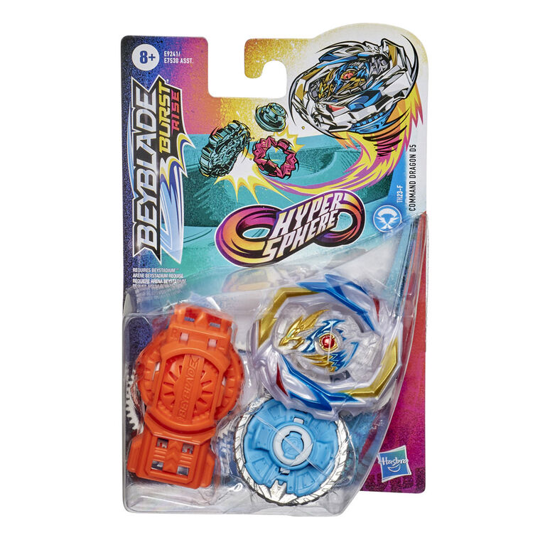 Beyblade Burst Rise Hypersphere Command Dragon D5 Starter Pack
