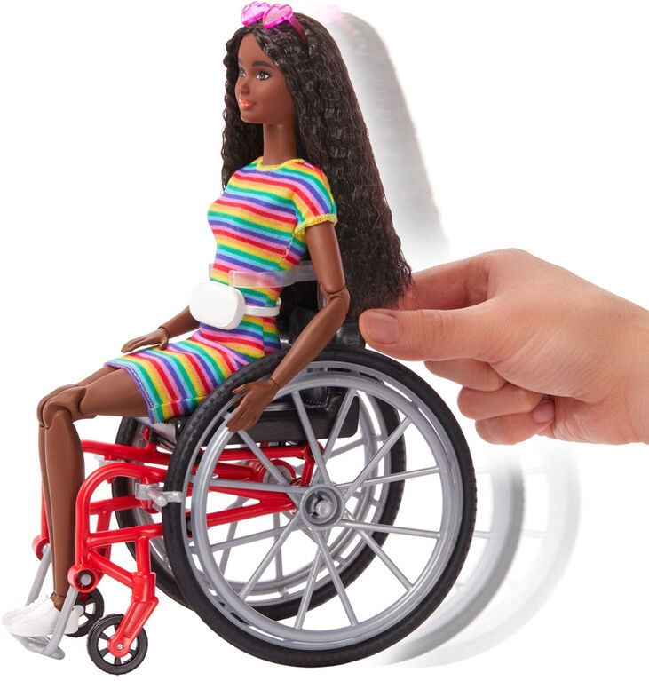 Barbie Fashionistas Doll with Wheelchair & Crimped Brunette Hair