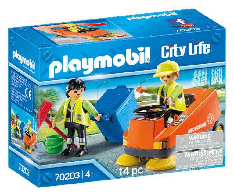 Playmobil Agents d'entretien de la voierie 70203