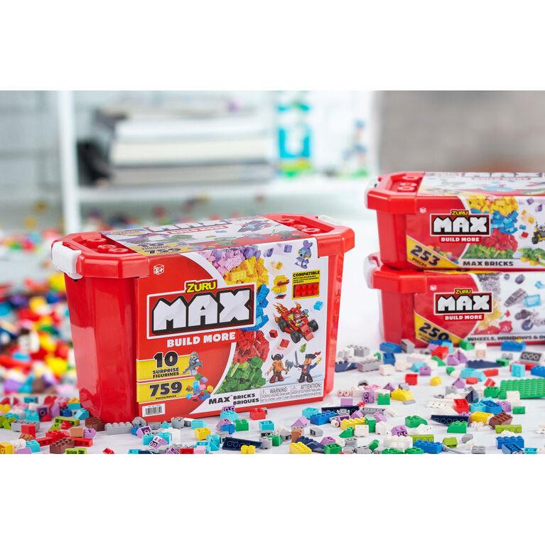 MAX Build More Building Bricks Value Set (253 Bricks) - Major Brand Compatible