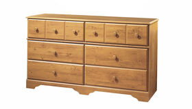 Little Treasures 6-Drawer Double Dresser- Country Pine