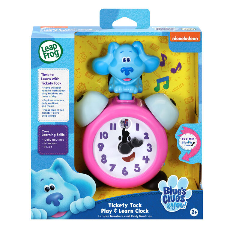 LeapFrog Blue's Clues & You! Tickety Tock Play & Learn Clock - Édition anglaise