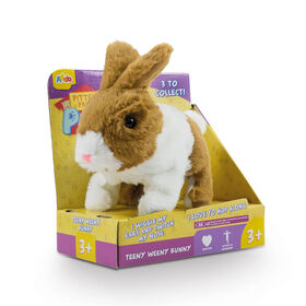 Pitter Patter Pets Teeny Weeny Bunny Brown and White