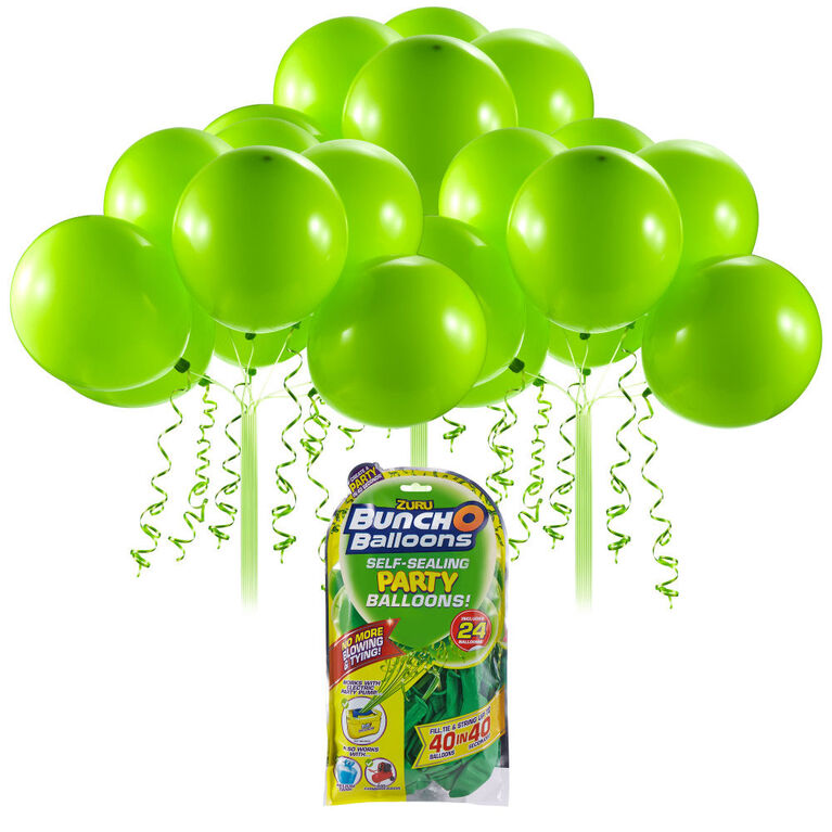 Bunch O Balloons 24 x 11 Inch Self-Sealing Latex Party Balloons - Green