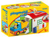 Playmobil 1.2.3. Construction Truck With Garage 70184