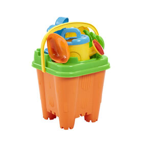 Out and About Beach Bucket Set Orange/Green