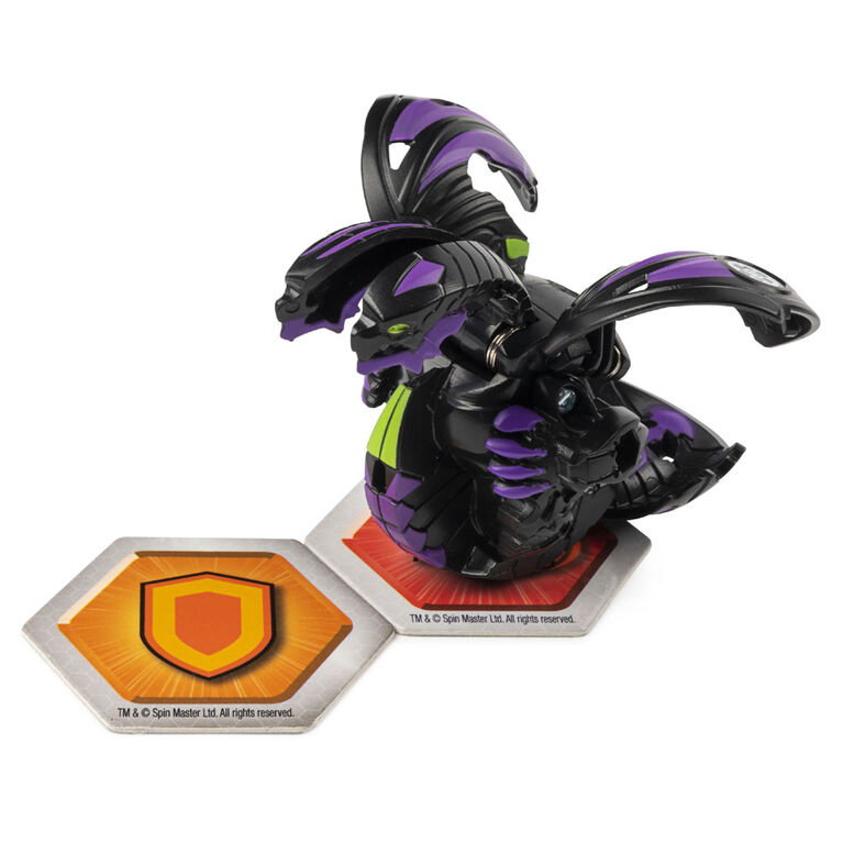 Bakugan, Baku-Storage Case with Nillious Collectible Action Figure and Trading Card, Black
