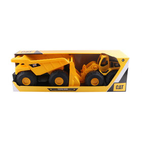 Cat Tough Rigs 2 Pk Dump Truck & Wheel Loader