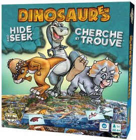 Dinosaurs Hide & Seek - French Edition