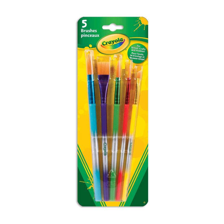 5 pinceaux crayola