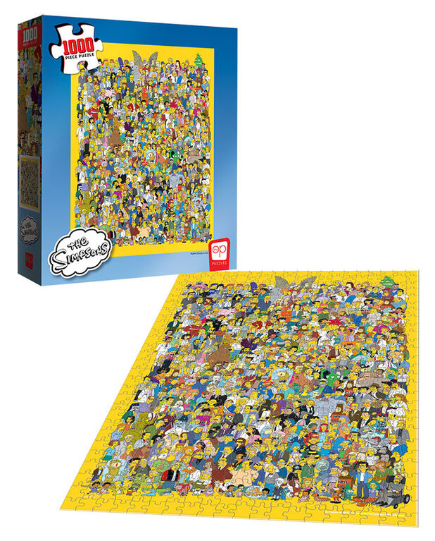 """The Simpsons """"Cast of Thousands"""" 1000 Piece Puzzle - English Edition"""