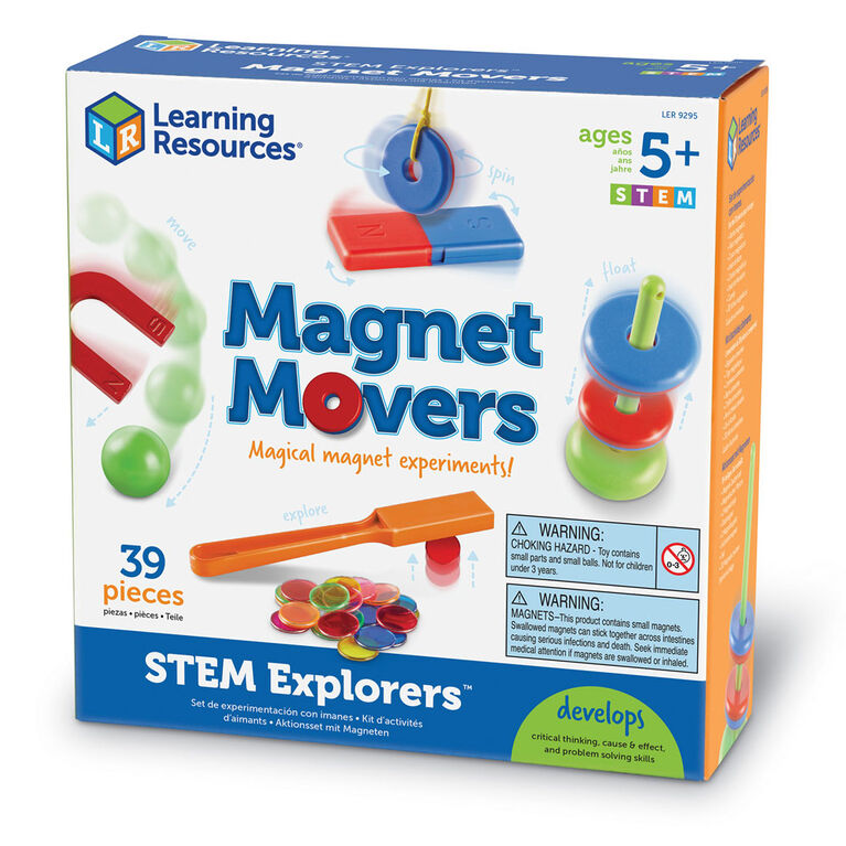 Learning Resources - Coffret STEM Explorers Magnet Movers - Édition anglaise