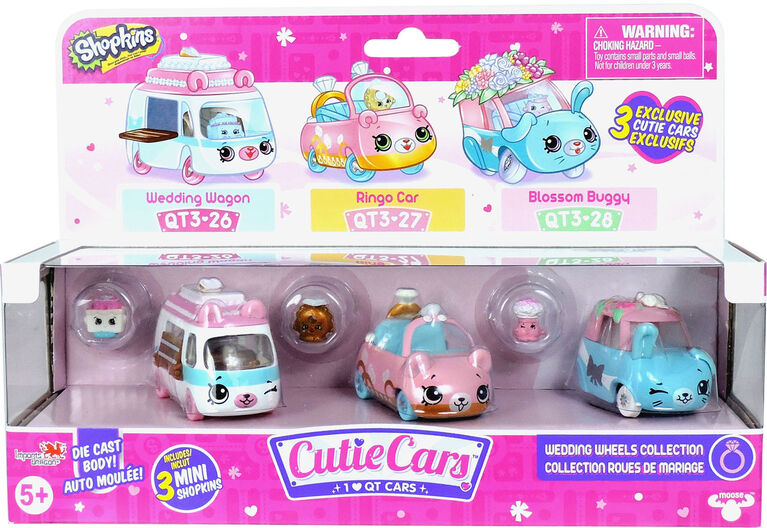 Shopkins Cutie Car Three Pack - Wedding Wheels