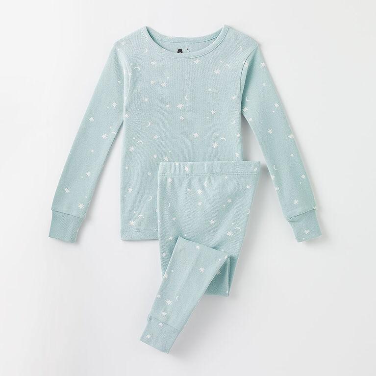 4 ans pyjama deux pièces à manches longues - imprimé nuage