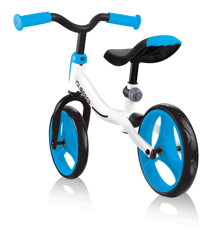 GO Balance Bike - White/Sky Blue