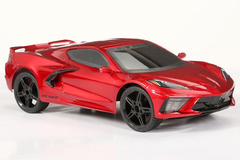 1:8 Echelle Corvette Commande de Radio Pleines Fonctions avec Son et Lumière