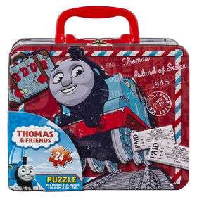 Thomas the Tank 24 Piece Jigsaw Puzzle, in Tin Box with Handle