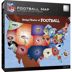 NFL Footall Map 500 Piece Jigsaw Puzzle - Édition anglaise