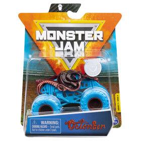 Monster Jam, Monster truck Octon8er officiel, véhicule en métal moulé, série Nitro Neon, échelle 1:64
