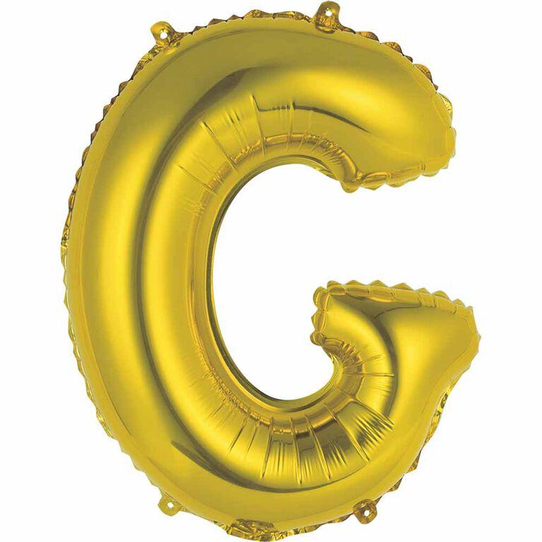 """Ballons en forme de lettre or 14 """" - G"""