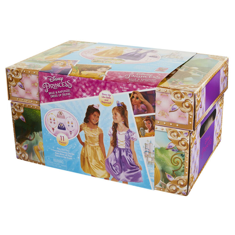 Princesse Disney - Coffre de robes Belle et Raiponce.