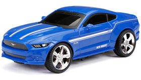 New Bright - 1:24 Scale Radio Control Sports Car - Ford Mustang 27MHz - Blue