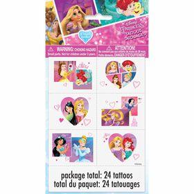Princess Color Tattoo Sheets, 4 pieces