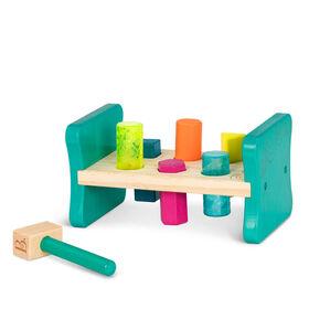 Trieur de formes en bois, Colorful Pound & Play, B. toys