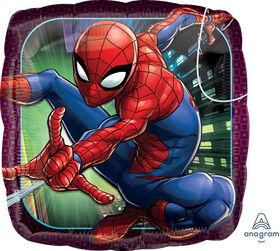 Ballon Métallique 46 Cm Carre Spiderman