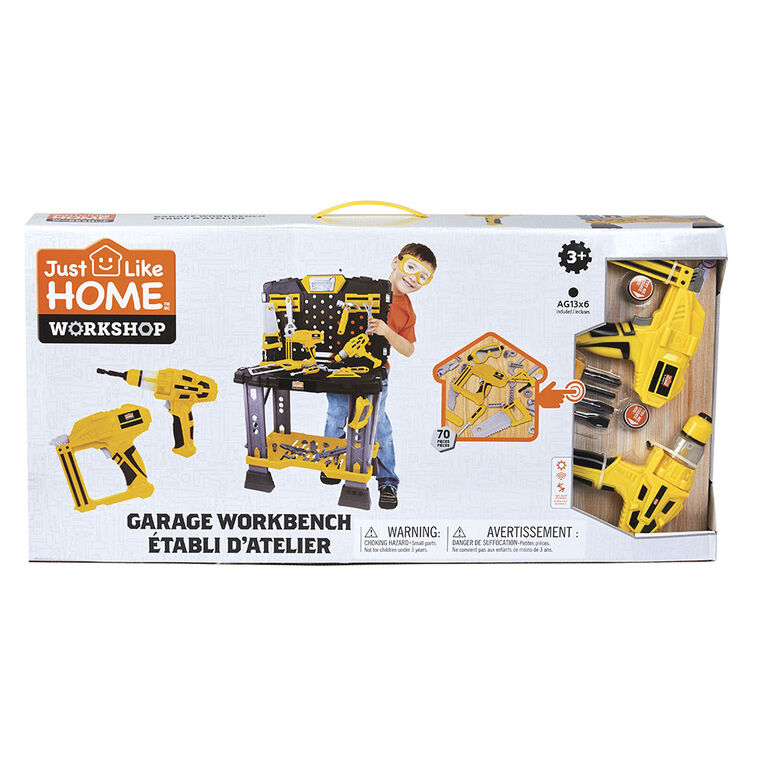 Just Like Home Workshop - Garage Workbench 70 Pieces
