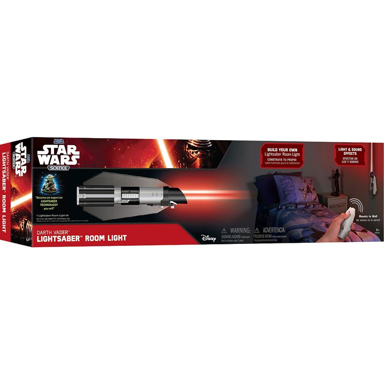 Star Wars Science - Lampe de chambre Sabre Laser de Darth Vader.