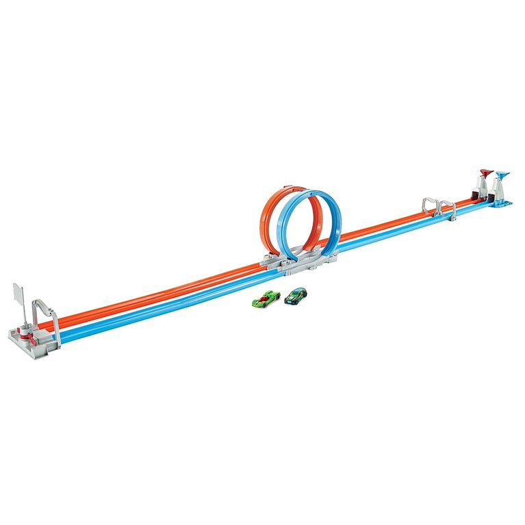 Hot Wheels - Coffret Piste Double boucle en folie