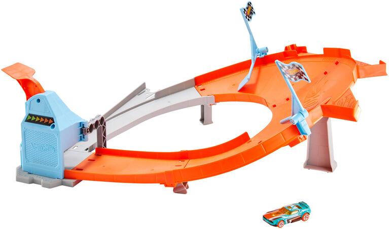 Hot Wheels - Coffret de jeu Piste Champion du dérapage - Édition anglaise.